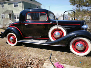 1934 Chev, 3 window coupe with rumble seat