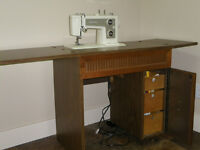 Sewing Machine in fold out table