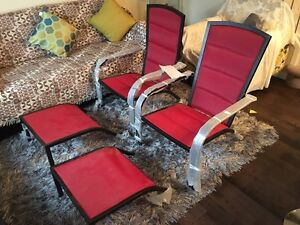 Brand new red chairs with foot support  !! Asking $125.. Edmonton Edmonton Area image 2