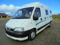 Trigano Tribute Motorhome for Sale with 3 travel seats, rear kitchen washroom