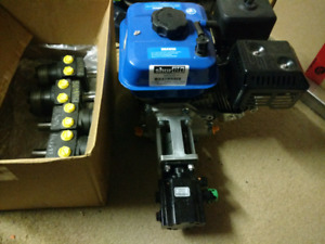 New 6.5hp gas hydraulic power pack and 4 hydraulic motors