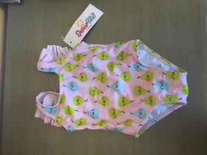6 month girl Sunshine Peppy Pear swimsuit