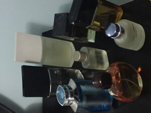Selling off used colognes