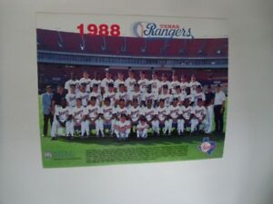 1988-TEXAS RANGERS-Official 8x10 Team Color Picture.