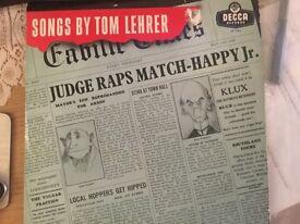 Songs By Tom Lehrer - original 10 inch LP 1958