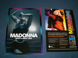 VINTAGE MADONNA STICKY & SWEET TOUR PROGRAM-2008-MUSIC