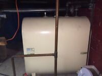 Grabby oil tank 2yr old 680l and oil furnace