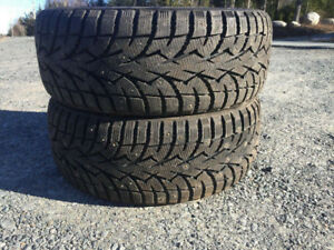 Two 215/45R17 Studded Winter Tires Excellent Tread