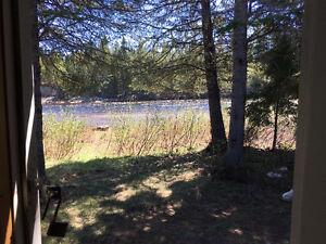 3 Acres Land Northwest Miramichi River Frontage Riverfront Camp