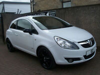 09 09 REG VAUXHALL CORSA 1.4 16V SXI SPORT 3DR BLACK ALLOYS SPORTS SEATS LOW INS