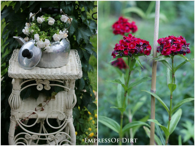 Old household items make lovely garden features