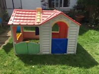 Large play house with garage