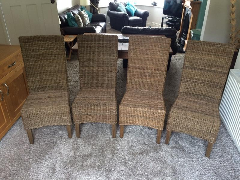 4 Wicker Dining Chairs in Newcastle Tyne and Wear Gumtree : 86 from gumtree.com size 800 x 600 jpeg 96kB