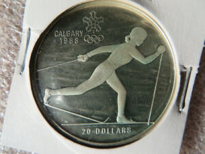 1986 Canada $20  Huge Silver Olympic Coin