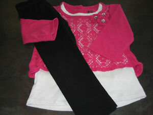 Girl's 2T (young hearts) long sleeve (old navy) tights