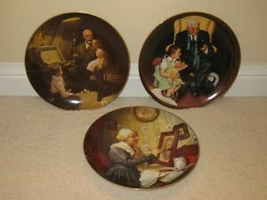 "3 Themed assorted ""Grandma and Grandpa"" collector plates"
