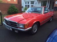 Mercedes SL380 V8 Classic 1983 W107 R107 - History Dated to 1980's