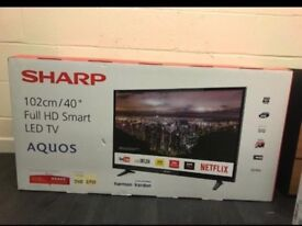 "Sharp Smart Tv 40"" as new"