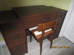 cabinet and chair for sewing machine