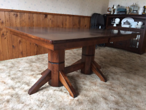Solid Maple Wood Dining Set and Sideboard
