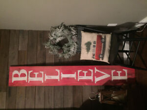 6ft Christmas/ Fall handpainted 2in1 signs