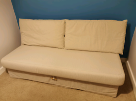 Ikea cream double sofabed