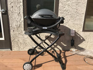 Weber Q1400 Electric BBQ, Stand & Cover