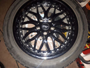 DAI Alloys 245/45Z/R18 5x120 Hercules Raptis WR1 Tires & Rims