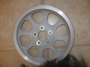 Harley fatboy 70 tooth 1 1/8 wide silver belt drive pulley