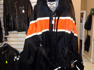 Rain gear-with Harley colours  recycledgear.ca