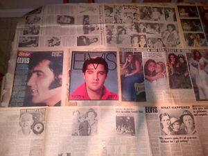 ELVIS PRESLEY - 1977 Newspaper Pullouts Covering his Death!!