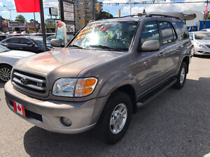 2002 Toyota Sequoia LIMITED iFORCE 4WD SUV...8 PASSENGER SEATS