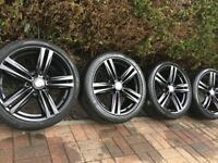 "Genuine BMW 1 2 Series 18"" 386 M Sport Alloy Wheels & Tyres F20 F21 F22 F23 135i 140i"