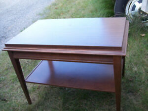solid hardwood flat screen TV table30 x 19 x 22 inches high.
