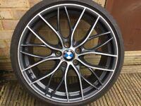 "1x Genuine BMW 3 4 Series 20"" 405 M Performance Alloy Wheel & 225/35/20 Tyre F30 F31 F33 F34 f36"