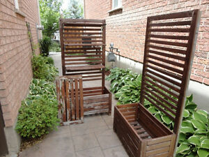 Two Red Cedar Planter Box With Trellis and Shelves -$118.00/ea