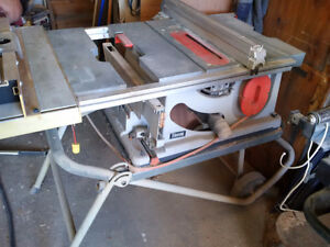 """10"""" Table Saw w/Router table & Router"""