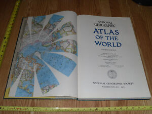 Atlas of the World - Maps National Geographic Society 1975 Map West Island Greater Montréal image 3