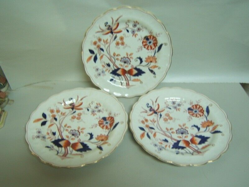 """Booths """"Fresian"""" Luncheon Plates Lot of 3 Very Good Condition"""
