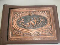 HAMMERED COPPER DOLPHIN MERMAID SCRAPBOOK Price Reduced