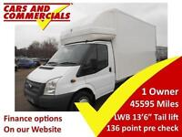2014 14 FORD TRANSIT 2.2 T350 LUTON T/L LWB DRW 125PS TAIL LIFT DIESEL