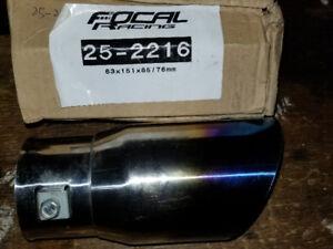 Brand new focal racing burnt exhaust tip
