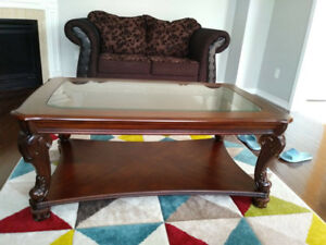 3 seater love seat and single seat plus ashley center table