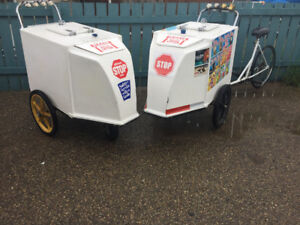 Original Dickie dee ice cream bike and cart!!