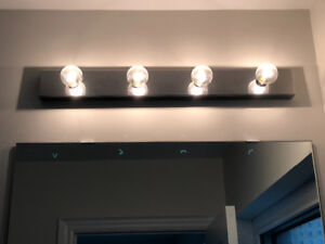 Bathroom light fixture vanity lighting