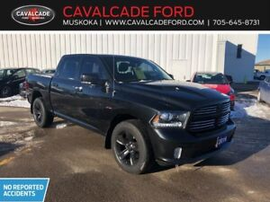 2016 RAM 1500 Crew Cab 4x4 Sport with leather heated front seats