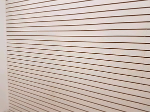 SLATWALL!  Great for garages and stores.