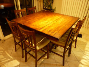 Dining table set with 8 chairs high rise - PERFECT CONDITION!