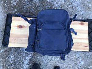 Picnic bag with plates, cutlery, etc.