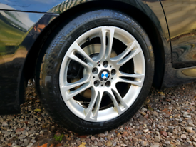 18 inch Bmw Style 350 F10 Sport Alloy Wheels & Tyres - e60 e61 5 serie